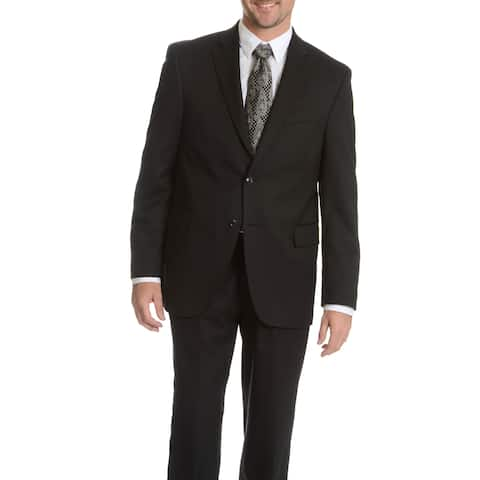 Palm Beach Men's Black Wool Performance Executive Fit Suit Separates Coat