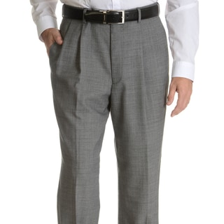 Link to Palm Beach Men's Black Wool Performance Pleated Suit Separates Suit Pant Similar Items in Suits & Suit Separates