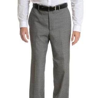 Link to Palm Beach Men's Black/ Grey Wool Performance Suit Separates Suit Pant Similar Items in Suits & Suit Separates