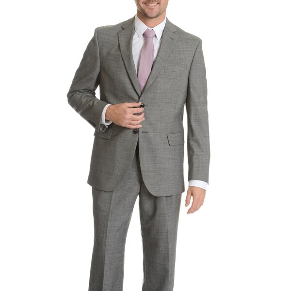 Palm Beach Men's Black/ Grey Wool Performance Suit Separates Coat. Opens flyout.