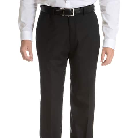 Palm Beach Men's Black Wool Performance Suit Separates Suit Pant