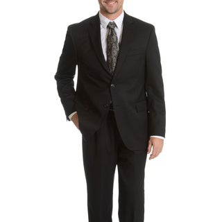 Palm Beach Men's Black Wool Performance Suit Separates Coat