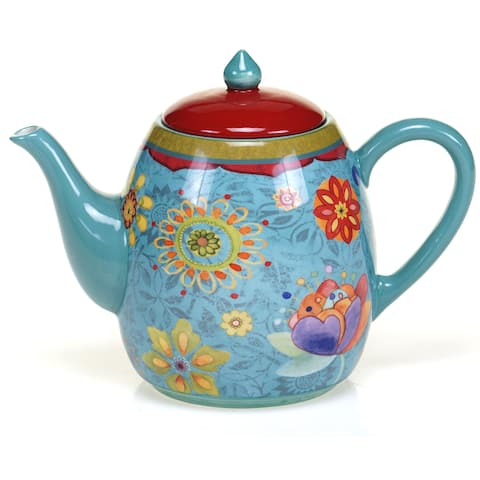 Certified International Tunisian Sunset 40-ounce Teapot
