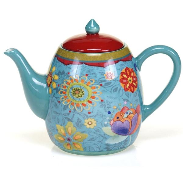 Certified International Tunisian Sunset 40-ounce Teapot. Opens flyout.
