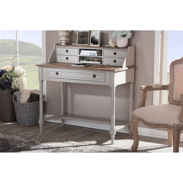 Two-Tone Writing Desk - Free Shipping Today - Overstock.com - 17878736