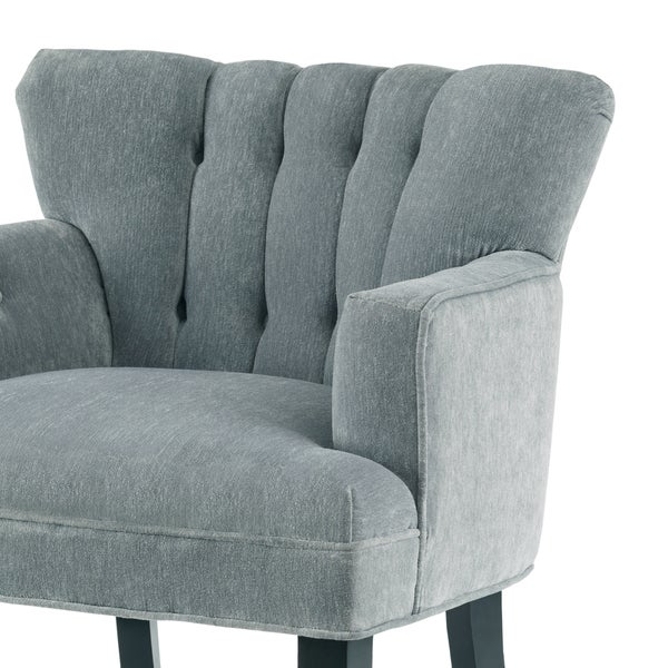 Charming Madison Park Gianna Blue Tufted Club Chair   Free Shipping Today    Overstock.com   17878762