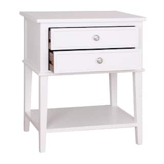 Buy white french country nightstands bedside tables online at porthos home avery 2 drawer side table watchthetrailerfo