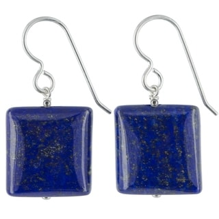 Ashanti Lapis Lazuli Gemstone Sterling Silver Handmade Earrings