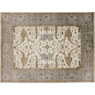 Fine Oushak Kate Ivory Hand-knotted Rug (9' x 12')