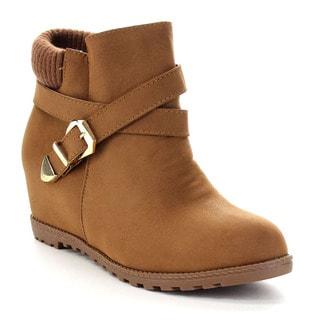 Beston CA90 Women's Hidden Wedge Ankle Booties