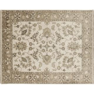 Art Silk Mehrdad Ivory Hand-knotted Rug (7'9 x 9'10)
