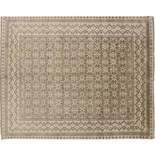Art Silk Hormizd Brown Hand-knotted Rug (7'9 x 9'10)