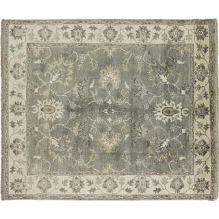 Art Silk Gulhayo Grey Hand-knotted Rug (7'10 x 9'9)