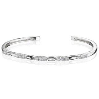 Avanti Sterling Silver Cubic Zirconia Cuff Bracelet