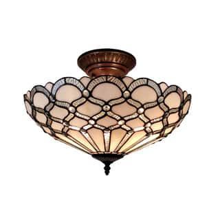 Amora Lighting Tiffany Style Jewel Semi Flush Mount|https://ak1.ostkcdn.com/images/products/10836499/P17878581.jpg?impolicy=medium