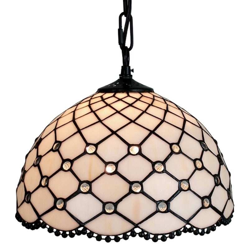 Amora Lighting AM119HL12 Jewel Tiffany Style Hanging Lamp...