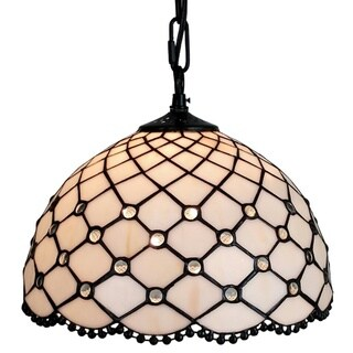 Amora Lighting AM119HL12 Jewel Tiffany Style Hanging Lamp