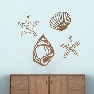 Large Set of Seashells Wall Decals (More options available)