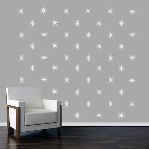 Retro Starbursts Wall Decals Set