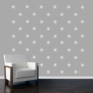Retro Starbursts Wall Decals Set (More options available)