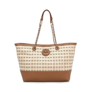 Tory Burch Marion Woven Straw East/West Tote
