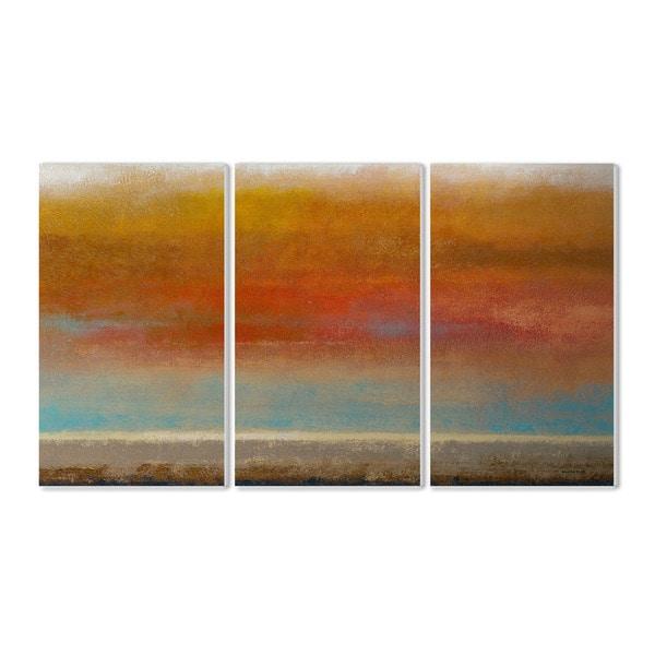 Stupell Harvest Sunset 3-piece Triptych Wall Plaque Set