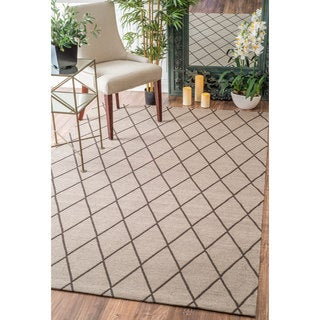 nuLOOM Modern Diamond Lattice Tan Rug (7'6 x 9'6)
