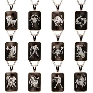 James Cavolini Zodiac Stainless Steel Dog Tag Pendant Necklace https://ak1.ostkcdn.com/images/products/10836600/P17878790.jpg?impolicy=medium