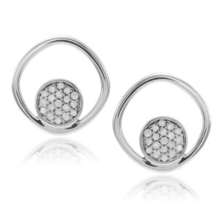 Journee Collection Sterling Silver Diamond 3/8 ct Open Circle Stud Earrings