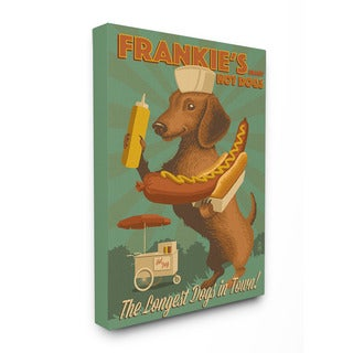 Stupell Frankie's Hot Dogs for Sale Graphic Art 16-inch x 20-inch Canvas