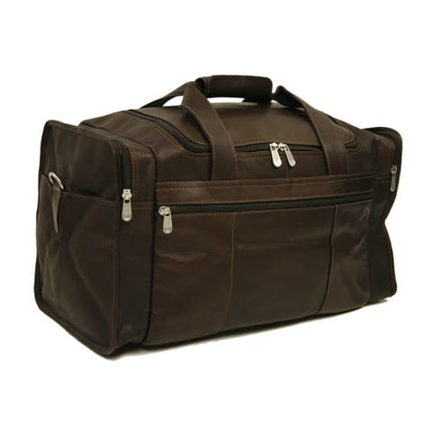 0c96875b31d Piel Leather Travel Duffel with Side Pockets