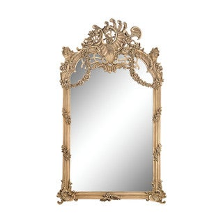 Renaissance Scroll Mirror In Russian Oak