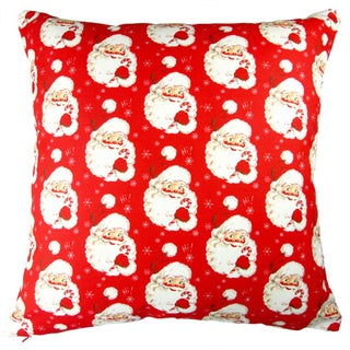 Artisan Pillows 17-inch Christmas Hi Santa Red Indoor Holiday Throw Pillow