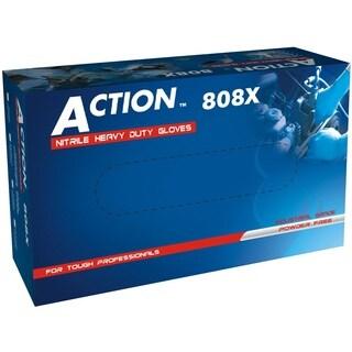 Shamrock Heavy Duty 8 Mil Powder Free Nitrile Industrial Gloves (Case of 1000)