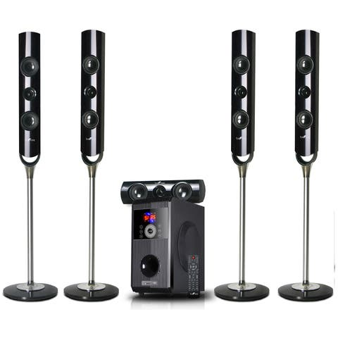 beFree Sound 5.1 Channel Surround Sound Bluetooth Speaker System - Black
