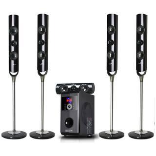 beFree Sound 5.1 Channel Surround Sound Bluetooth Speaker System - Black