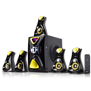 beFree Sound Yellow 5.1 Channel Surround Sound Bluetooth Speaker System