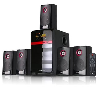 beFree Sound Red 5.1 Channel Surround Sound Bluetooth Speaker System