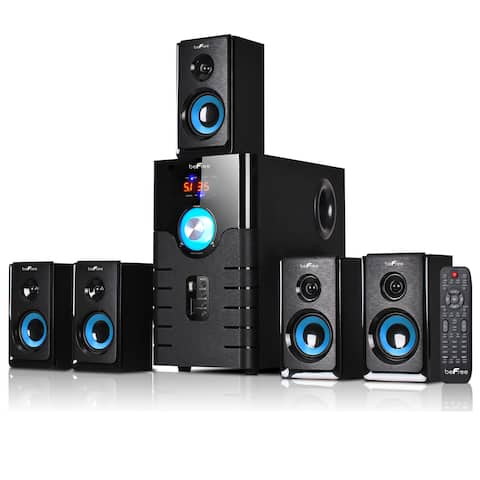 beFree Sound Blue 5.1 Channel Surround Sound Bluetooth Speaker System - Black