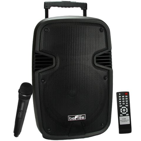 Portable beFree Sound Bluetooth Speaker with USB/SD/FM Radio - Black