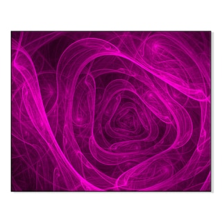 Gallery Direct illustration of fractal abstraction background bright rose Print on Mounted Metal Wall Art