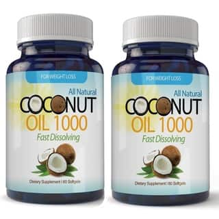 Organic Virgin Coconut Oil Softgels 120 Count (2 Month Supply)|https://ak1.ostkcdn.com/images/products/10836839/P17878919.jpg?impolicy=medium