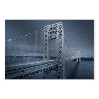 Gallery Direct George Washington Bridge black and white Print by on Mounted Metal Wall Art