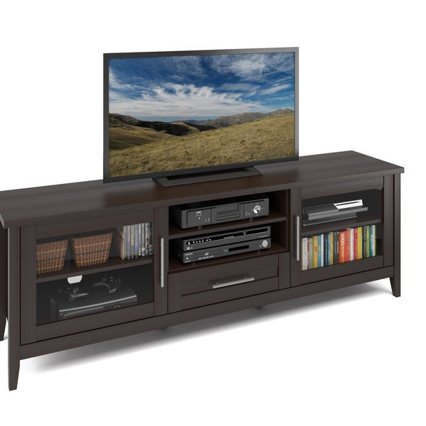 Shop Corliving Jackson 71 Inch Extra Wide Tv Bench For Tvs Up To 60