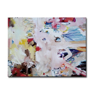 New World' Abstract Wrapped Canvas Wall Art