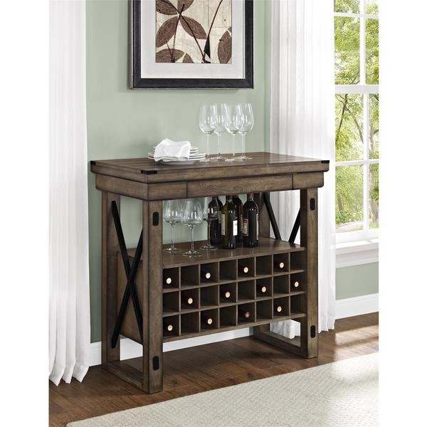 Altra Wildwood Rustic Grey Bar Cabinet