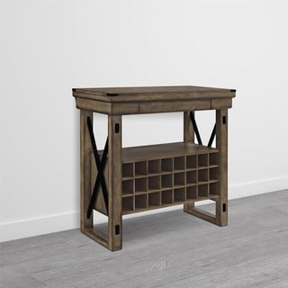 Avenue Greene Woodgate Rustic Grey Bar Cabinet