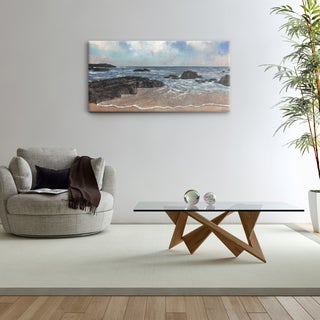 Studio 212 'Rocky Shores' Textured Canvas Wall Art (24 x 48)