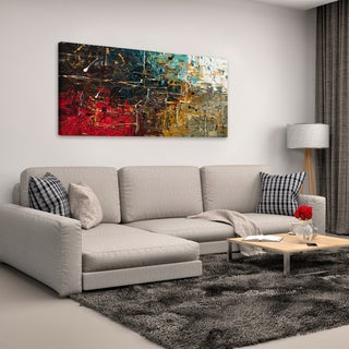 Carmen Guedez 'Equilibrium' Canvas Wall Art (24 x 48)