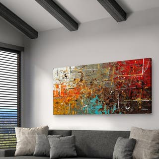 Carmen Guedez 'Safe and Sound' Canvas Wall Art (24 x 48)|https://ak1.ostkcdn.com/images/products/10836948/P17879014.jpg?impolicy=medium